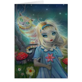 Alice no cartão do país das maravilhas