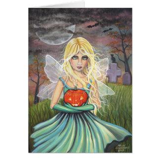 Alice no cartão feericamente do Dia das Bruxas por