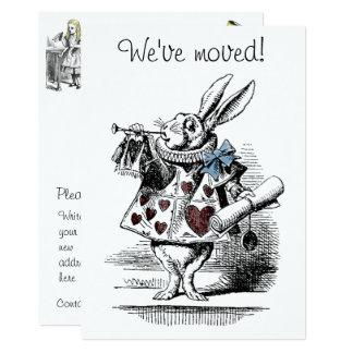 Alice no cartão Home novo do anúncio do país das