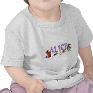 Alice no país das maravilhas e amigos t-shirts