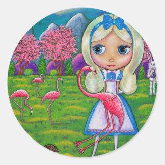 Alice no país das maravilhas e na etiqueta dos