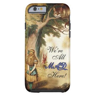 Alice no país das maravilhas nós somos tudo loucos capa tough para iPhone 6