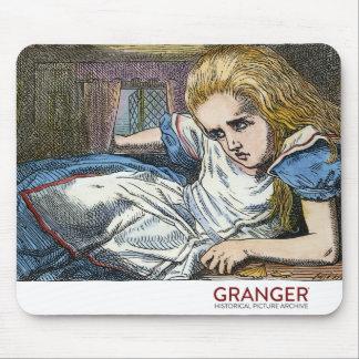 Alice no tapete do rato do país das maravilhas mouse pad