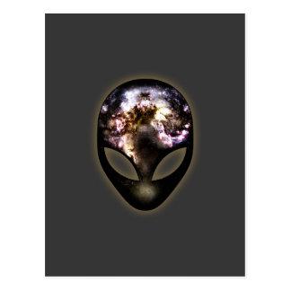 Alienígena cósmica cartão postal