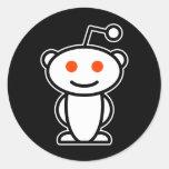 Alienígena de Reddit Adesivos Redondos