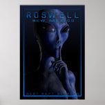 Alienígena, sendo, UFO, Roswell, mistério, encontr Poster