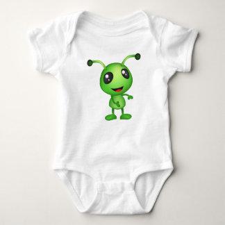 Alienígena verde bonito body para bebê