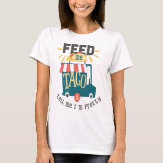 Alimente-me a camisa do divertimento do Taco