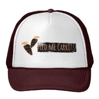 Alimente-me cenouras chapéu/boné boné