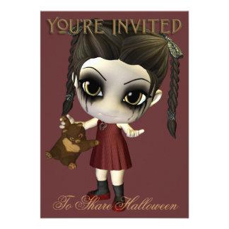 Alimente-me o convite de festas do Dia das Bruxas