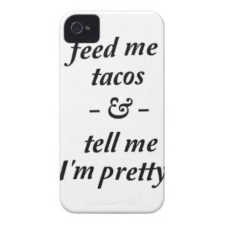 Alimente-me o Tacos Capa Para iPhone 4 Case-Mate