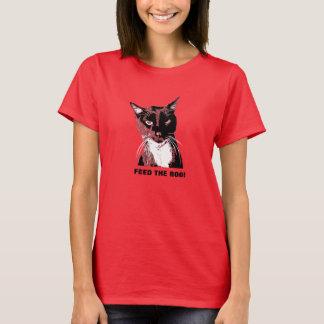 ALIMENTE o t-shirt do gato da VAIA Camiseta