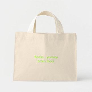 Alimento saboroso do cérebro dos livros… bolsas para compras