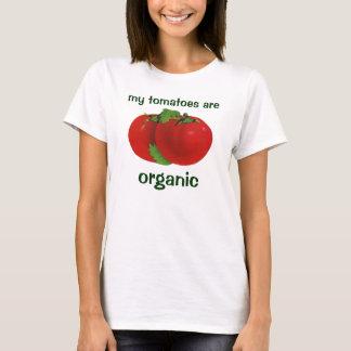 Alimentos do vintage, tomate maduro vermelho camiseta