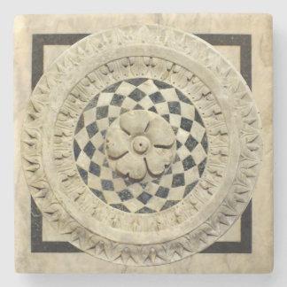 Alivio italiano do mármore do renascimento porta-copos de pedra