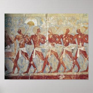 Alivio que descreve a parada em honra de Hathor Impressão