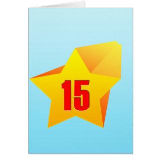 All Star quinze anos velho! Aniversário Cartão