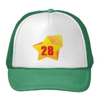 All Star vinte e oito anos velho! Aniversário Bonés