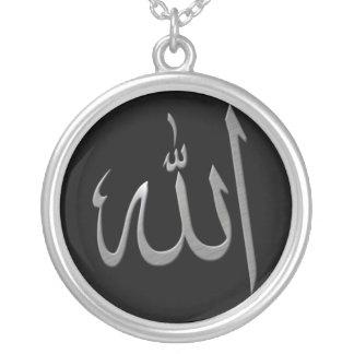 Allah Colar Banhado A Prata