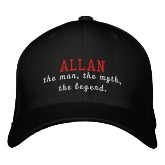 Allan o homem, o mito, a legenda boné bordado