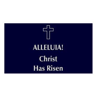 Alleluia! O cristo aumentou Cartao De Visita