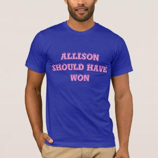 Allison deve ter ganhado - duas vezes, camisa da