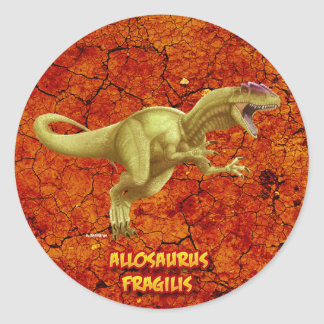 Allosaurus Adesivo Redondo