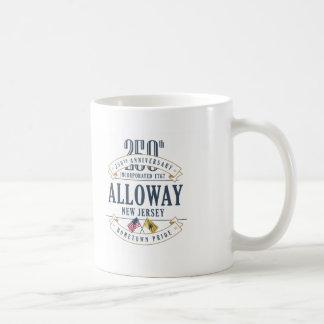 Alloway, caneca do aniversário de New-jersey 250th