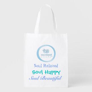 Alma relaxada, alma feliz, alma bonita sacolas reusáveis