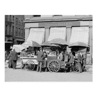 Almoço Carro da Nova Iorque, 1906 Cartão Postal