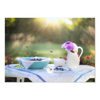 Almoço com vespas convite 12.7 x 17.78cm