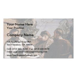 Almoço de Honore Daumier- no país Modelos Cartoes De Visitas