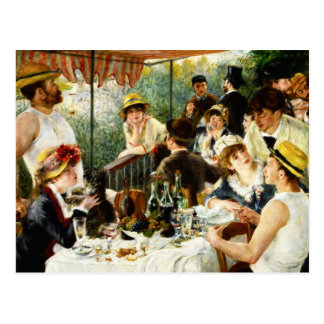Almoço de Renoir do cartão do partido do barco Cartão Postal