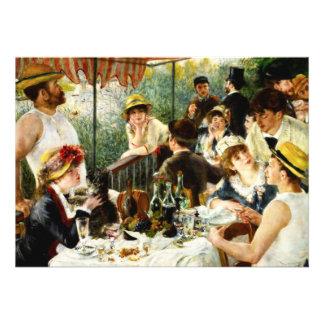 Almoço de Renoir do convite de festas do barco
