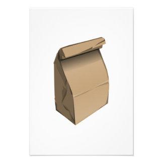 Almoço de saco convite personalizado