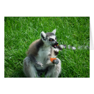 Almoço do Lemur Cartão Comemorativo