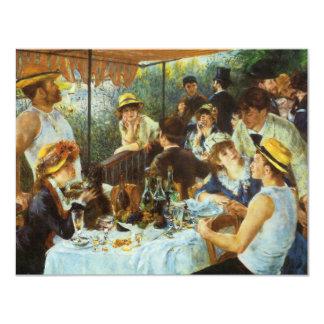 Almoço do partido do barco por Pierre Renoir Convites Personalizado