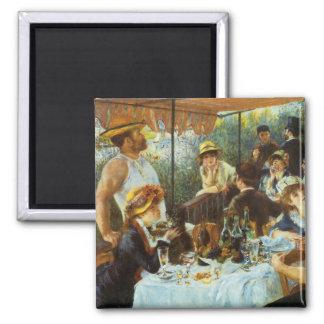 Almoço do partido do barco por Pierre Renoir Ímã Quadrado