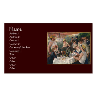 Almoço do partido do barco por Renoir Cartões De Visita