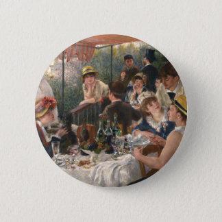Almoço do partido do barco - Renoir Bóton Redondo 5.08cm
