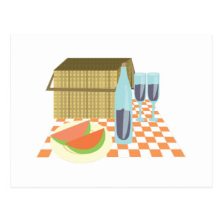 Almoço do piquenique cartão postal