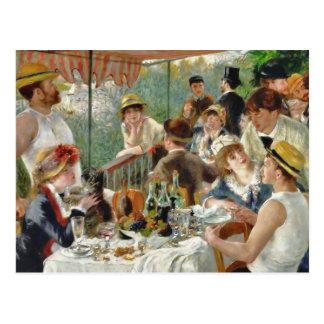 Almoço do vintage Renoir do partido do barco Cartão Postal