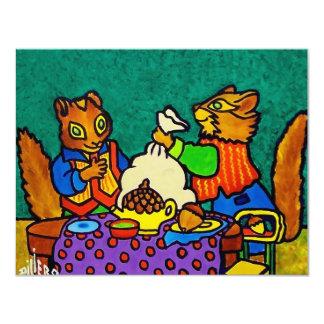 Almoço dos esquilos por Piliero Convites Personalizado