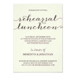 Almoço elegante do ensaio convites personalizados