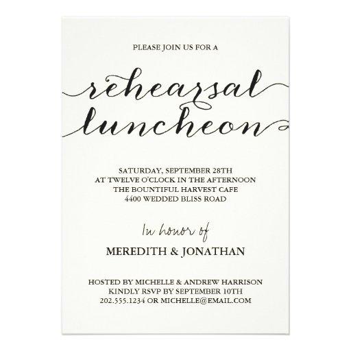 Almoço elegante do ensaio convites