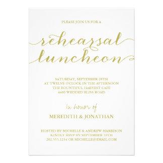Almoço elegante do ensaio convites personalizado
