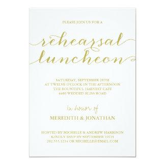 Almoço elegante do ensaio convite 12.7 x 17.78cm