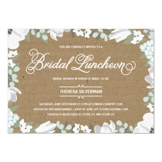 Almoço floral do chá de panela da elegância | convite 12.7 x 17.78cm