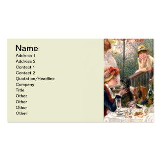 Almoço francês de Renoir no partido do barco Cartão De Visita