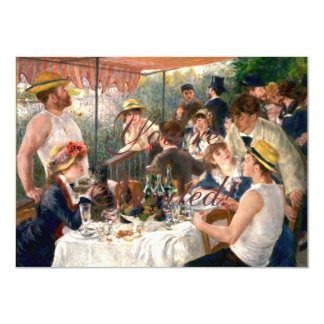 Almoço francês de Renoir no partido do barco Convite 11.30 X 15.87cm